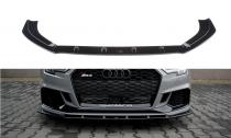 Maxton Design Spoiler předního nárazníku Audi RS3 8V Sedan Facelift V.1 - texturovaný plast