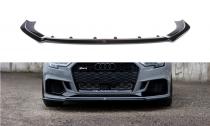 Maxton Design Spoiler předního nárazníku Audi RS3 8V Sedan Facelift V.2 - texturovaný plast