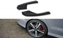 Maxton Design Boční lišty zadního nárazníku Audi RS3 8V Sedan Facelift- texturovaný plast