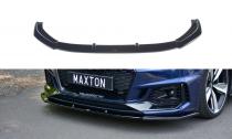 Maxton Design Spoiler předního nárazníku Audi RS4 B9 V.1 - texturovaný plast