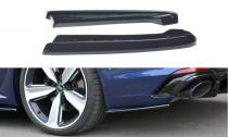 Maxton Design Boční lišty zadního nárazníku Audi RS4 B9 Avant - texturovaný plast
