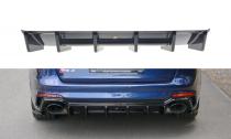 Maxton Design Spoiler zadního nárazníku Audi RS4 B9 Avant - texturovaný plast