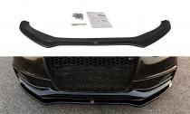 Maxton Design Spoiler předního nárazníku Audi S4 B8 Facelift V.2 - texturovaný plast