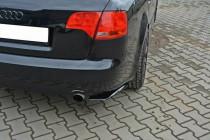 Maxton Design Boční lišty zadního nárazníku Audi A4 B7 - texturovaný plast