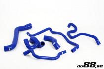 Do88 Set silikonových hadic vedení chladící kapaliny Opel Calibra Vectra A Turbo 2,0T C20LET - Modré