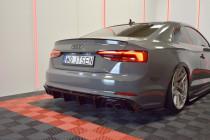Maxton Design Spoiler zadního nárazníku Audi S5/A5 S-Line B9 Coupe/Sportback - texturovaný plast