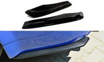 Maxton Design Boční lišty zadního nárazníku Audi RS6 C5 - texturovaný plast