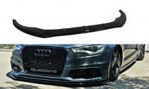 Maxton Design Spoiler předního nárazníku Audi S6/A6 S-Line C7 V.1 - texturovaný plast