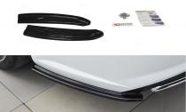 Maxton Design Boční lišty zadního nárazníku Audi S6/A6 S-Line C7 Avant Facelift - texturovaný plast