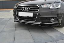 Maxton Design Spoiler předního nárazníku Audi A6 C7 - texturovaný plast