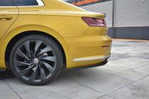 Maxton Design Boční lišty zadního nárazníku VW Arteon - texturovaný plast