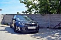 Maxton Design Spoiler předního nárazníku VW Golf VI GTI V.2 - texturovaný plast
