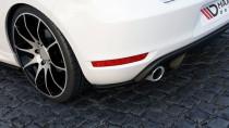 Maxton Design Boční lišty zadního nárazníku VW Golf VI GTI - texturovaný plast