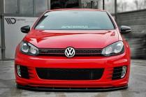 Maxton Design Spoiler předního nárazníku VW Golf VI GTI Edice 35 - texturovaný plast
