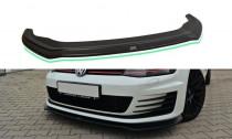 Maxton Design Spoiler předního nárazníku VW Golf Mk7 GTI V.2 - texturovaný plast