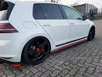 Maxton Design Prahové lišty VW Golf Mk7 GTI Clubsport - texturovaný plast