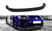 Maxton Design Spoiler předního nárazníku VW Golf Mk7 R V.1 - texturovaný plast