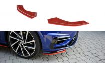 Maxton Design Spoiler předního nárazníku VW Golf Mk7 R Facelift V.8 - texturovaný plast