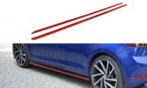 Maxton Design Prahové lišty VW Golf Mk7 R Facelift V.2 - texturovaný plast