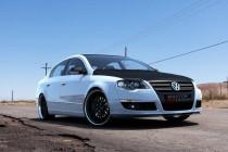 Maxton Design Spoiler předního nárazníku VW Passat B6 - texturovaný plast