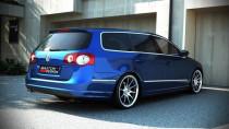 Maxton Design Spoiler zadního nárazníku VW Passat B6 - R-Line vzhled výřez na 1 výfuk