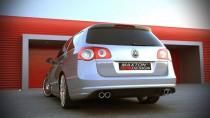 Maxton Design Spoiler zadního nárazníku VW Passat B6 - R-Line vzhled výřez na 2 výfuky