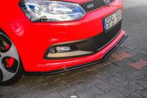 Maxton Design Spoiler předního nárazníku VW Polo Mk5 (6R) GTI - texturovaný plast