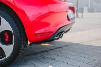 Maxton Design Boční lišty zadního nárazníku VW Polo Mk5 (6R) GTI - texturovaný plast
