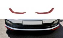 Maxton Design Spoiler předního nárazníku VW Polo Mk6 GTI V.5 - texturovaný plast