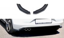 Maxton Design Boční lišty zadního nárazníku VW Polo Mk6 GTI - texturovaný plast