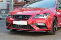 Maxton Design Spoiler předního nárazníku Seat Leon Mk3 Cupra Facelift V.1 - texturovaný plast
