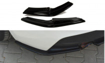 Maxton Design Boční lišty zadního nárazníku BMW 1 F20/F21 - texturovaný plast