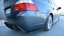 Maxton Design Boční lišty zadního nárazníku BMW 5 E60/61 M-Paket - texturovaný plast