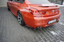 Maxton Design Boční lišty zadního nárazníku BMW M6 F06 - texturovaný plast