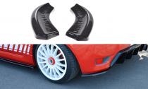 Maxton Design Boční lišty zadního nárazníku Ford Fiesta ST Mk6 - texturovaný plast