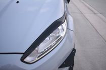 Maxton Design Mračítka předních světlometů Ford Fiesta ST Mk7 Facelift V.1 - černý lesklý lak