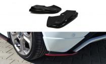 Maxton Design Boční lišty zadního nárazníku Ford Fiesta ST Mk7 Facelift - texturovaný plast