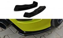 Maxton Design Boční lišty zadního nárazníku Ford Focus RS Mk2 - texturovaný plast