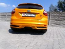 Maxton Design Boční lišty zadního nárazníku Ford Focus ST Mk3 Hatchback - texturovaný plast