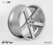 OEMS Wheels 115 19x8,5 ET42 5x112 Stylová alu kola - Stříbrné