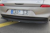 Maxton Design Spoiler zadního nárazníku s příčkami Hyundai I30 Mk3 - texturovaný plast
