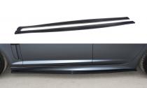Maxton Design Prahové lišty Jaguar XF-R - texturovaný plast
