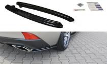 Maxton Design Boční lišty zadního nárazníku Lexus IS Mk3 Facelift - texturovaný plast