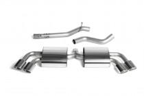 Catback výfuk Audi TTS 8J quattro 2,0 TFSI 200kW Milltek Sport - bez rezonátoru