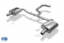 Catback výfuk Škoda Octavia III RS 2,0 TSI Fox Exhaust - bez rezonátoru