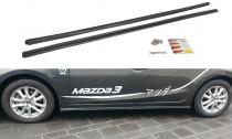 Maxton Design Prahové lišty Mazda 3 Mk3 Facelift - texturovaný plast