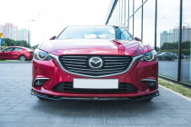 Maxton Design Spoiler předního nárazníku Mazda 6 Mk3 Facelift V.2 - texturovaný plast