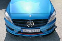 Maxton Design Spoiler předního nárazníku Mercedes A W176 AMG-Line - texturovaný plast