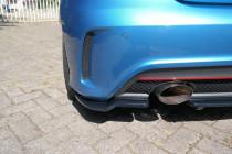 Maxton Design Boční lišty zadního nárazníku Mercedes A W176 AMG-Line - texturovaný plast