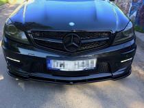 Maxton Design Spoiler předního nárazníku Mercedes C63 AMG W204 Facelift - texturovaný plast